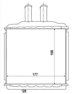 Радиатор печки NRF