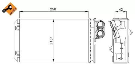 радиатор печки behr peugeot 405