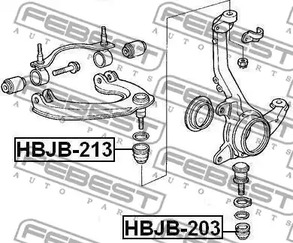 ремонтный комплект, несущие / направляющие шарниры FEBEST 4674_HBJB-213_SC.jpg