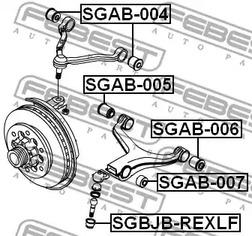 ремонтный комплект, несущие / направляющие шарниры FEBEST 4674_SGBJB-REXLF_SC.jpg