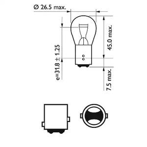 Лампа накаливания, фонарь сигнала тормоза/задний габаритный PHILIPS 75_P21_5W_FS_TECH.jpg