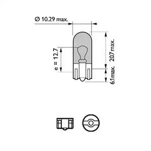 Лампа накаливания, фонарь указателя поворота PHILIPS 75_W5W_BV_TECH.jpg