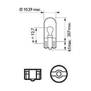 Лампа накаливания, фонарь указателя поворота PHILIPS 75_W5W_LL_TECH.jpg