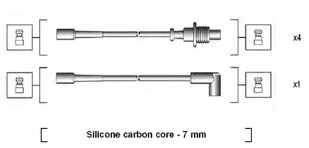 Комплект проводов зажигания MAGNETI MARELLI